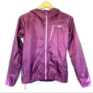 Outdoor research helium rain jacket shell coat top